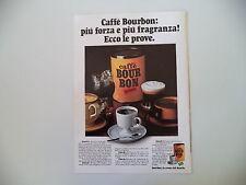 advertising Pubblicità 1973 CAFFE' BOUR BON BOURBON