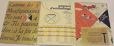 Publicité ancienne Papeterie Hervé Fils Emballage Cadeau _ 4 échantillons Tarifs