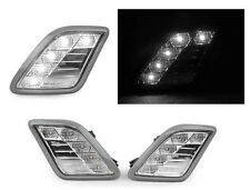 DEPO 2010-2013 MERCEDES W221 S CLASS WHITE LED CLEAR BUMPER SIDE MARKER LIGHT