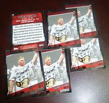 Brock Lesnar UFC 2010 Topps Card #82 100 116 121 141 91 87 81 WWE MMA w/ Belt