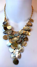 Elegante Multi Stratificato Pearl Style MARE a tema d'oro Collana SPLENDIDA (a12)