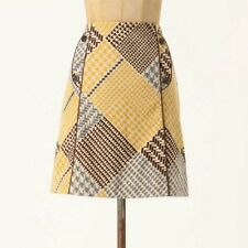 Maeve Anthropologie Houndstooth Collage Pencil Skirt 10  EUC