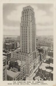 Head Office Canadian Bank of Commerce TORONTO Ontario Canada 1931-40s RPPC