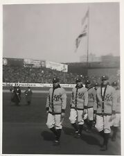 "11x14"" PHOTO: BABE RUTH LEADING TEAM ONTO FIELD, OPENING DAY YANKEE STADIUM 1923"