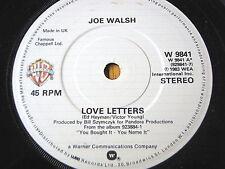 """JOE WALSH - LOVE LETTERS   7"""" VINYL"""