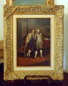THE POLITICIANS Attributed to Victor Chavet (1822-1906) Oil on Panel Framed