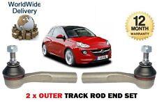 Pour Vauxhall Opel Adam 1.2 1.4 2012 -- & gton 2x outer tie piste Rod Fin set rack