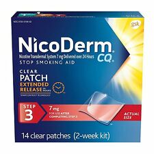 Nicoderm CQ Step 3 Clear Nicotine Patches 7mg 14ct