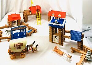 Lincoln Logs —  Big L Ranch + Conestoga Wagon + Snowy River Outpost 99% Complete