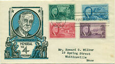 SCOTT #'s 930-933 FDC, ROOSEVELT, CACHET CRAFT CACHET, TYPED ADD., GREAT PRICE!