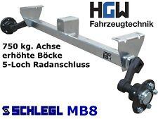 750 kg. Achse erhöhte Böcke - AM: 1200 mm AS: 5*112 - ungebremste Anhängerachse