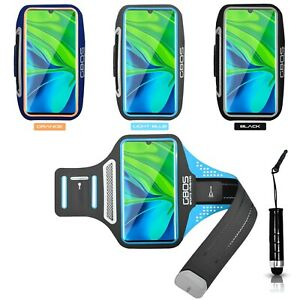 GBOS® New Light Weight Sports Running Armband For Xiaomi Mi Note 10 Pro With Pen