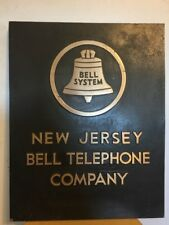 Vintage Bell System Telephone Company New Jersey Advertising Sign Plaque
