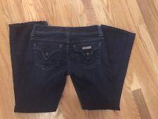 """Womens Hudson Jeans, Size 28 Bootcut Short 28"""" Inseam DARK Wash NICE denim Blue"""