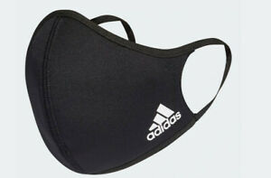(1) 100% Authentic *New* Adidas Reusable Black Face Mask Cover M/L