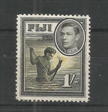 FIJI 1938 GEORGE 6TH 1/- BLACK & YELLOW SG,262 M/MINT LOT 7380A