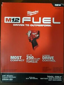 Milwaukee  M12 FUEL 12V Lith-Ion Cordless Stubby 3/8 in. Impact Wrench