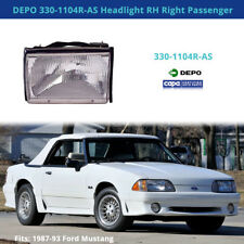 DEPO 330-1104R-AS Headlight RH Right Passenger (Fits: 87-93 Ford Mustang)