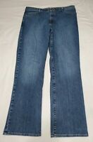Eddie Bauer Women's Jeans Natural Fit Straight Leg High Rise Size 16