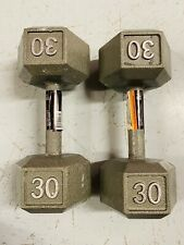 CAP (2) 30 LB Cast Iron Dumbbell Weights Set - (60lb Total) FAST FREE SHIPPING!