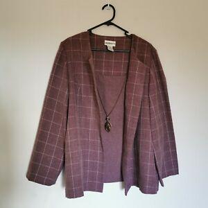 Vintage Miller's Shirt/Blazer Size 20 Blush Pink W/necklace