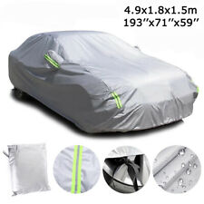 6 Layer Full Car Cover Waterproof Dust Outdoor Snow Uv Sun Protection For Sedan Fits Jeep