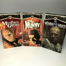 Lot of 3 The Mummy, Mummy's Ghost, Mummy's Hand on VHS Classic Horror Halloween
