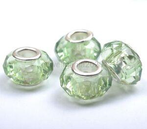 10pcs Silver Buckle Acrylic Beads/Core Fit European Charms Bracelets 14MM