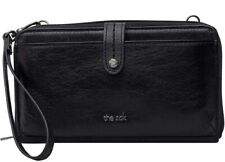 The Sak 3 In 1 Phone Wallet Wristlet Crossbody Genuine Leather Black Onyx NWOT
