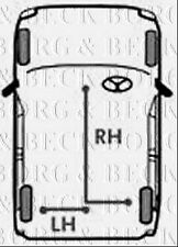 BKB1030 BORG & BECK BRAKE CABLE- RH REAR fits GM Corsa, Nova 86-91 NEW O.E SPEC!