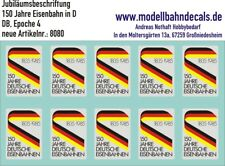 Spur 1 - 10x  Jubiläums-Signet 150 Jahre Deutsche Bahn - Logo neu TOP 032-8080
