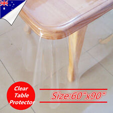 Clear Table Cloth Kitchen Dining Bar Protector Plastic PVC Dining Picnic Camping