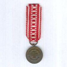 FINLAND. Miniature Red Cross Bronze Medal of Merit, pre-mid-1970s version