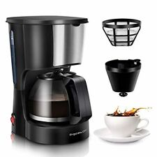 Coffee Makers, 4 Cup Coffee Maker with Coffee Filter and Glass Carafe