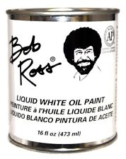 Bob Ross Liquid White Medium 16 oz Bottle Oil Paint Base Coat