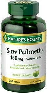 Nature's Bounty Saw Palmetto Pills 450mg, 250 Caplets (Support Prostate Health)