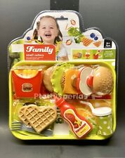Pretend Fast food Toy Play Hamburger Fries Shop Kids Store Gift Fun Meal Tray