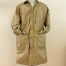Vintage Jacket Large Mens L L BEAN Thinsulate Tan Plaid Wool Lining Over Coat