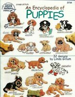 An Encyclopedia of Puppies in Counted Cross Stitch ASN 3734 32 Different Designs