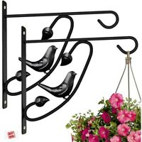 Metal Plant Hangers For Lanterns Trees Wall Planter Hook Flower Pot 2 Pack 12 In