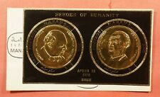 1970 MANAMA AJMAN FDC? HEROES OF HUMANITY CHURCHILL GOLD FOIL S/S 195988