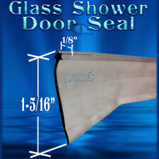 DS8227 Framed Glass Shower Door Sweep Wipe Seal clear