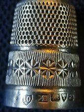 Beautiful Antique Hallmarked 1908 Chester Solid Silver Charles Horner Thimble