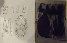 Ancien Tampon Scolaire Anatomie Dentiste Dentition Mâchoire 14 x 19cm