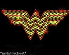 "7.7"" Wonder Woman iron on rhinestone transfer wonderwoman applique decal"
