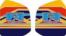 2015 fa alonso style réservoir autocollants-karting-otk