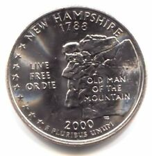 U.S. New Hampshire Live Free or Die State Quarter 2000 P Coin Philaddelphia Mint