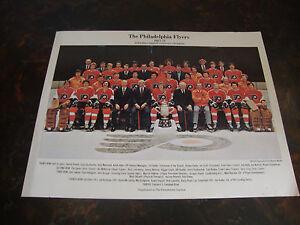 Philadelphia Flyers---1977-78 Team Poster---Newspaper Supplement---9x12---VHTF