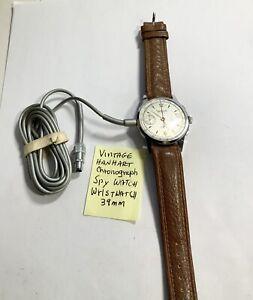 Vintage Hanhart Chronograph Cold War Spy  Microphone Recorder James Bond
