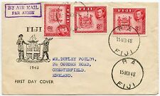 FIJI 1948 ILLUSTRATED FDC 8d BA CANCELS